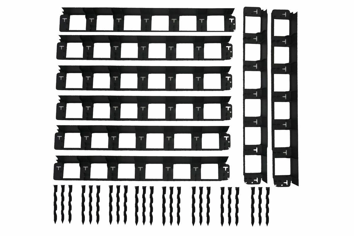 26m SHS Rasenkanten 40mm Beeteinfassung M/ähkante Beetumrandung Raseneinfassung Plattenhalter Schiene Pave Edge Rasenkante