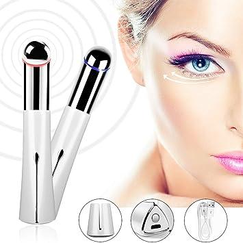 45 ° C Erhitzung Sonic Eye Massager, Augen- Und Lippen-Dual-Use, Wiederaufladbarer Hochfrequenz-Vibrationsfalten-Stick, Perfe