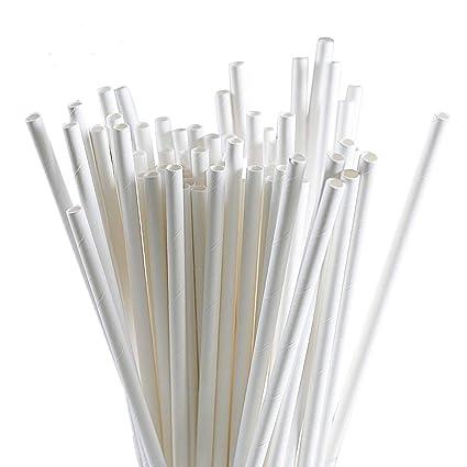 White Paper Straws, 250 Pack White Paper Straws Bulk Drinking  Biodegradable, White Paper Straws Biodegradable Bulk Drinking Bulk White  Paper Straws