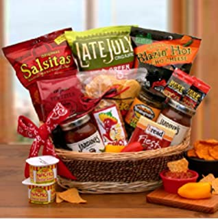 Gourmet Spicy Salsa and Chips Gift Basket | Makes a Great Fathers Day Gift