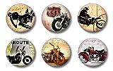 Locker Magnets For Boys - Vintage Motorcycle