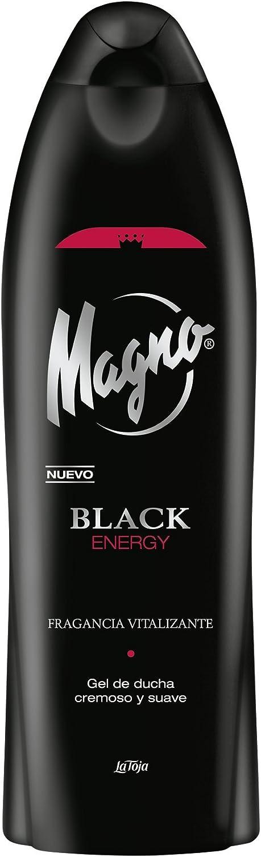 Magno - Gel de Ducha Black - Energizante con toque cítrico- 1 unidad de 550ml