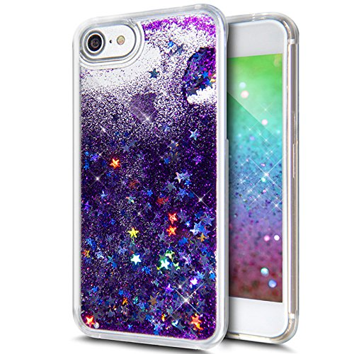 iPhone 8 Plus Case,iPhone 7 Plus Case,ikasus iPhone 7 Plus Glitter  Case,Funny Glitter Quicksand F