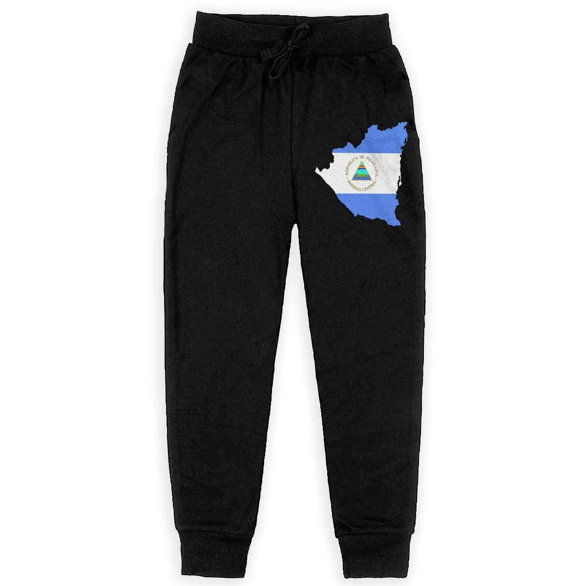 IufnNRJndfu Nicaragua Boys Athletic Smart Fleece Pant Youth Soft and Cozy Sweatpants