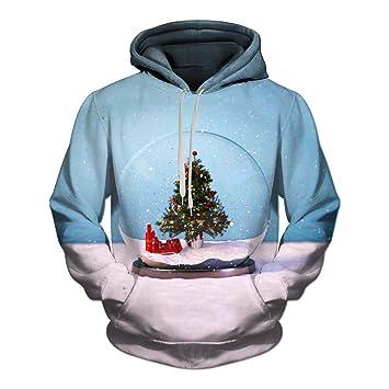 29159910a166 Amazon.com   Clearance Men Women 3D Printed Hoodies Pullover Funny Christmas  Sweater Sweatshirts Fleece Hoody   Clothing