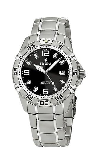 FESTINA F16170/7 - Reloj de Caballero de Cuarzo, Correa de Acero Inoxidable Color Plata: Festina: Amazon.es: Relojes