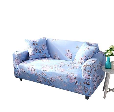 DYB&home Fundas Elásticas para Sofá 1/2/3/4 Seater Blue ...
