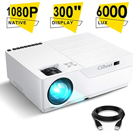 Amazon.com: Proyector, CiBest Native 1080p LED Proyector de ...