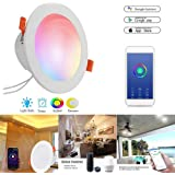 Redcolourful LED WiFi Smart Downlight 85-265V 12W Work with Alexa Google Home Voice Control