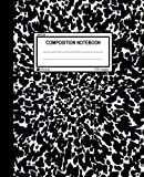 """Unruled Composition Notebook: 100 unruled pages [50 sheets], 7.5"""" x 9.25, black marble, composition style cover, perfect bound notebook. (Arune Composition Books) (Volume 1)"""