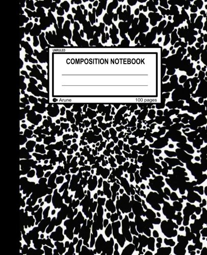 Unlined Blank Black Cover - Unruled Composition Notebook: 100 unruled pages [50 sheets], 7.5