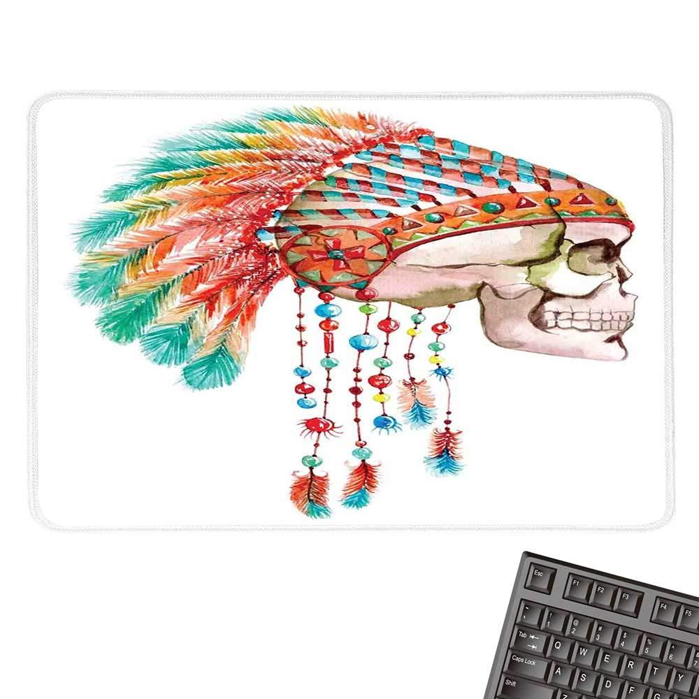 Native American DecorOffice マウスパッド エスニック ノマディックラグ シームレスパターン 防水マウスパッド 9.8インチx11.8インチ 9.8