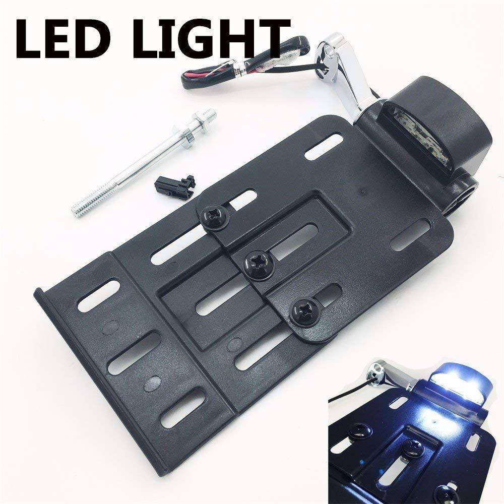 Placa de matr/ícula de montaje lateral de luz LED para 04UP Genuine Harley Sportster 883 1200 48