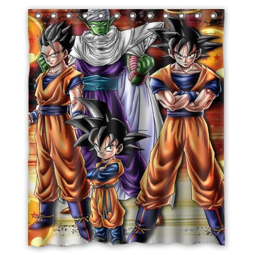 Dragon Ball Z Custom Waterproof Shower Curtain 60x72 Inch Bath