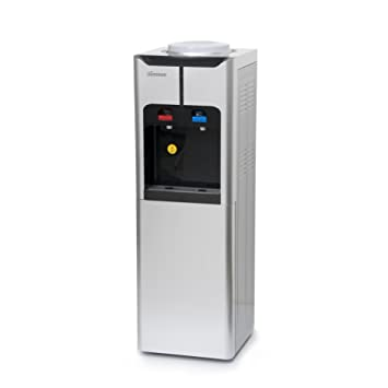 Iluminum ILUS105 39 Inch Freestanding Water Cooler Dispenser With Storage  Cabinet, Hot And Cold