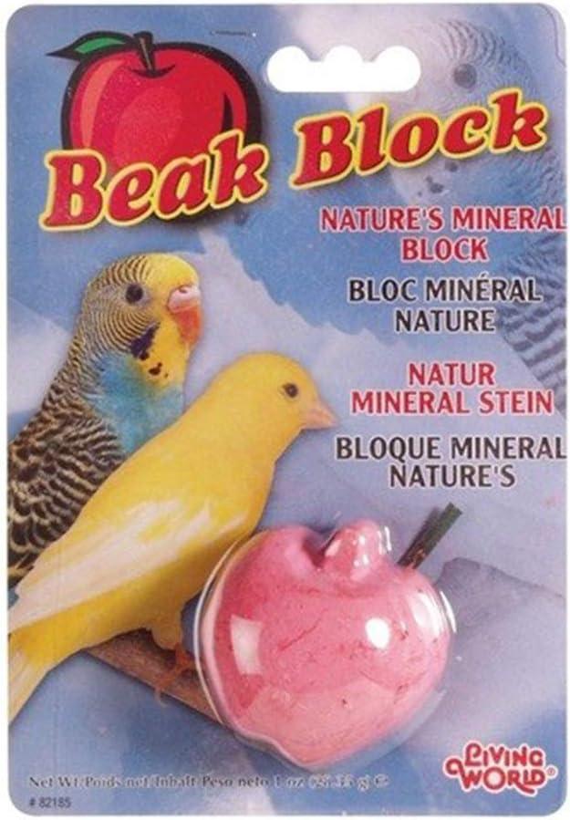 Living World Mineral Block, Apple (for Parakeets), 28.35 Grams