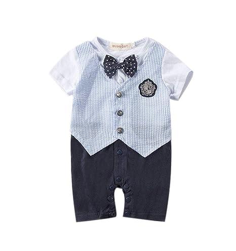 ENCOCO - Mono para bebé, diseño de Rayas, con corbatín para ...