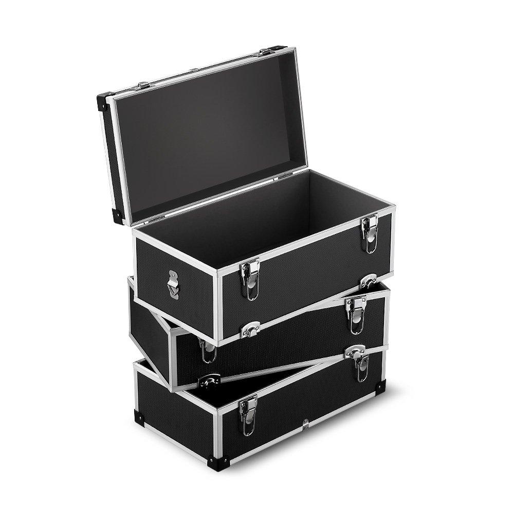 iKayaa Large Portable Hard Storage Box Carrying Case for Tools, Fishing Tackle 3 Layer by IKAYAA (Image #2)