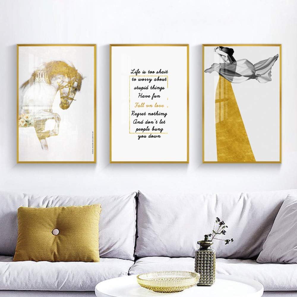 zxddzl Sala de Estar Simple Pintura Decorativa Arte de la Belleza ...