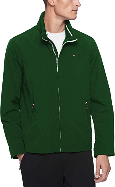 Tommy Hilfiger Men/'s Nylon Yacht Jacket Windbreaker-Green
