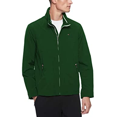 8fa2c184 Tommy Hilfiger Men's Big and Tall Stand Collar Lightweight Yachting Jacket,  Green, ...