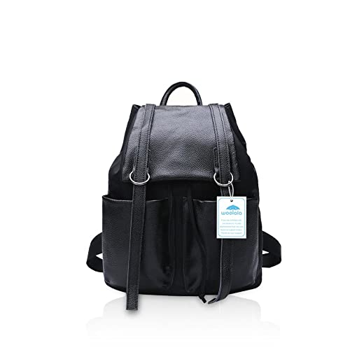 ccad78c1e97c Yoome Women Backpack Purse Leather Cool Stylish Urban Daypack Casual  Shoulder Bag Mdeduim 7378-Black  Amazon.co.uk  Shoes   Bags
