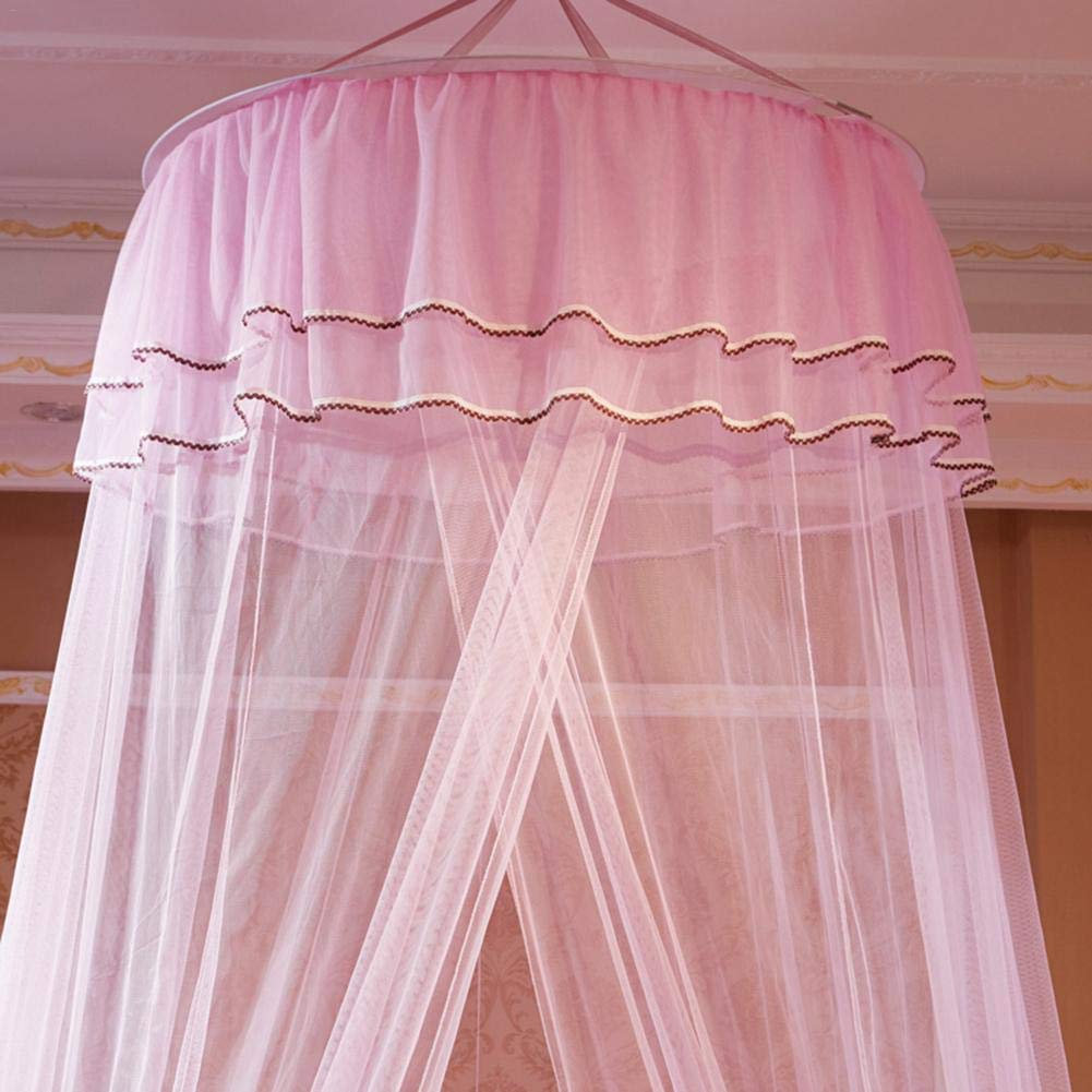 VOVI Mosquito Bed Net Canopy Luxury Princess Hanging Round Lace Curtains Tent Full Canopy Bed Netting Student Dome Mosquito Net Crib Twin Full Queen Bed