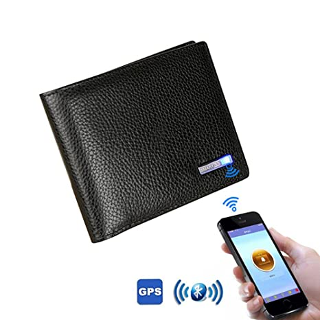 FOONEE Cartera Bluetooth Cartera Inteligente Anti Perdida Cartera Inteligente con Rastreador - Cartera de Piel de