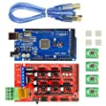 Full RepRap 3D Printer Electronics Kit - MEGA 2560 R3 + RAMPS 1.4 + A4988 Stepper Drivers + USB Cable