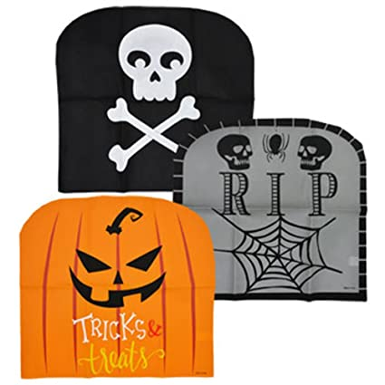 Fantastic Spooky Halloween Chair Covers Set Of 6 Caraccident5 Cool Chair Designs And Ideas Caraccident5Info
