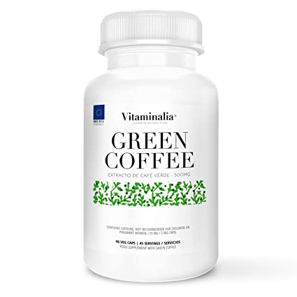 Café verde | 500mg | 90 cápsulas vegetales | 250mg de Ácido Clorogénico| Ayuda a la Pérdida de Peso | Calidad de Vitaminalia | Apto Vegetariano: Amazon.es: ...