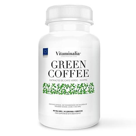 Café verde | 500mg | 90 cápsulas vegetales | 250mg de Ácido Clorogénico| Ayuda a