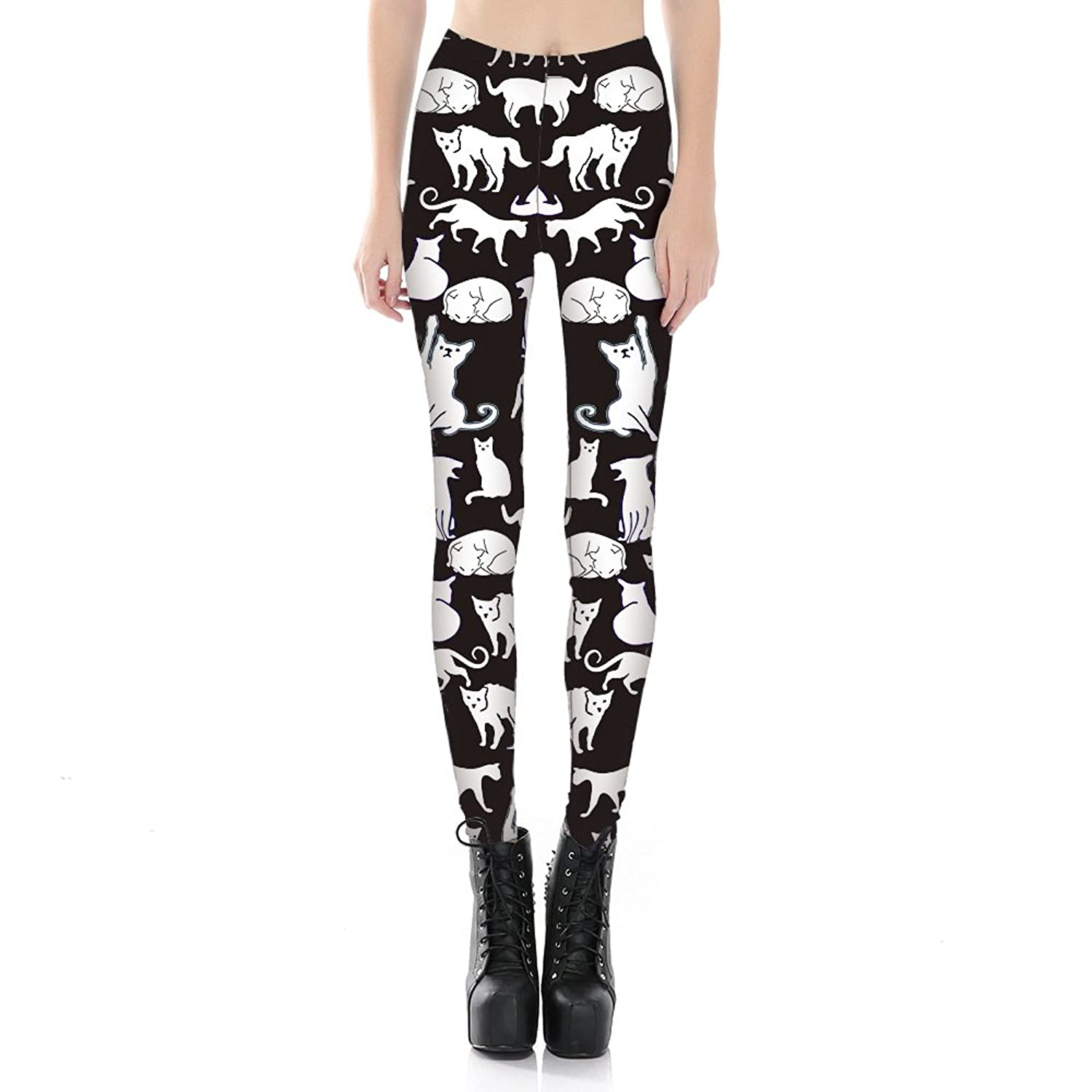 1d0cb67249 chic Leggings Depot Ultra Soft REGULAR and PLUS Popular Best Printed  Fashion Leggings (Black and
