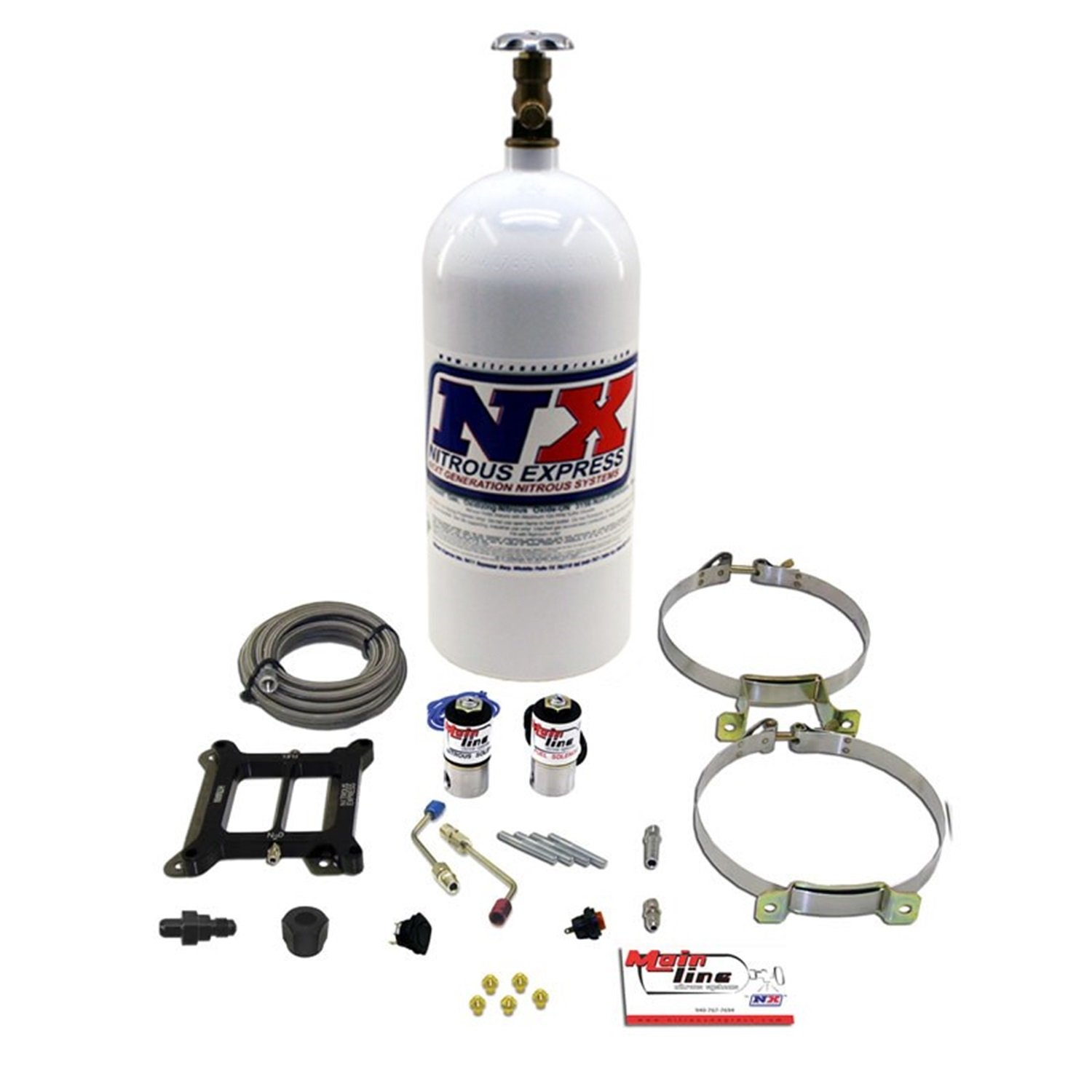 Nitrous Express ML1000 MainLine 5-10 psi Carbureted Plate System with 10 lbs. Bottle