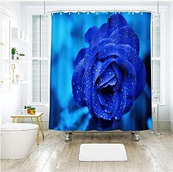 WIXIJAWR Haute Qualité Extra Longflower Modèle 3D Bleu Rose ...