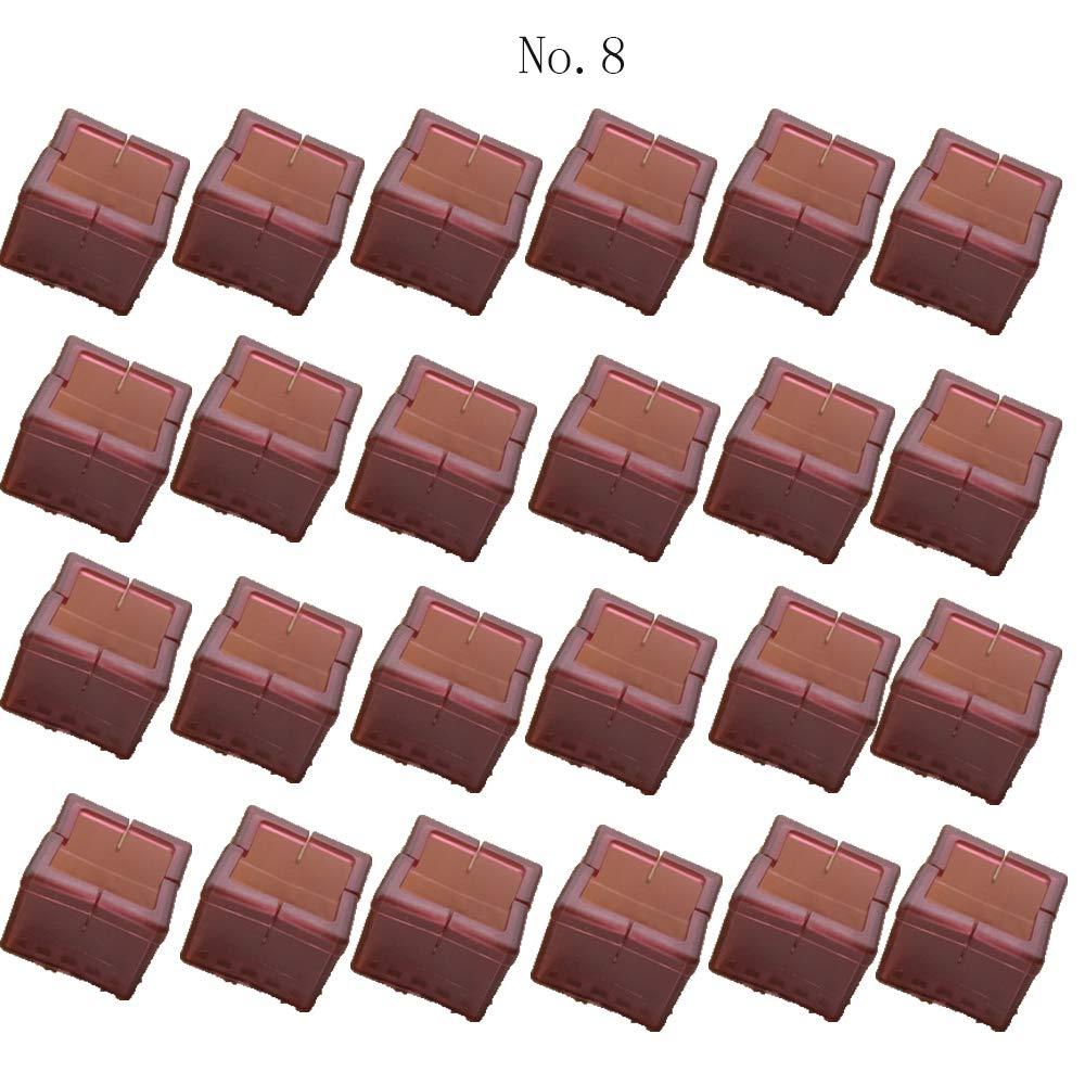Chapeaux de jambe de chaise de 24PCS appropri/ées aux jambes rondes 17-21mm couvertures de Tableau de meubles garnitures de pieds dAnti-Rayures No.1 garnitures de feutre antid/érapantes