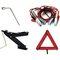 Kit Estepe Para Carro/Macaco Joelho + Chave De Roda 21mm + Triângulo + Cabo Auxiliar
