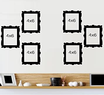 picture frames 5 vinyl frames qty 6 frames home decor 4