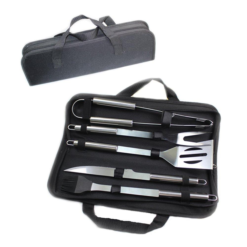 Juego de herramientas para parrillas para barbacoa, kit de herramientas para parrillas MFEI Kit de accesorios para exteriores en estuche de ...