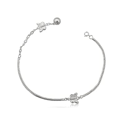 inch bracelets sterling pearl silver bracelet swarovski anklet ankle to white adjustable pin elements faux round
