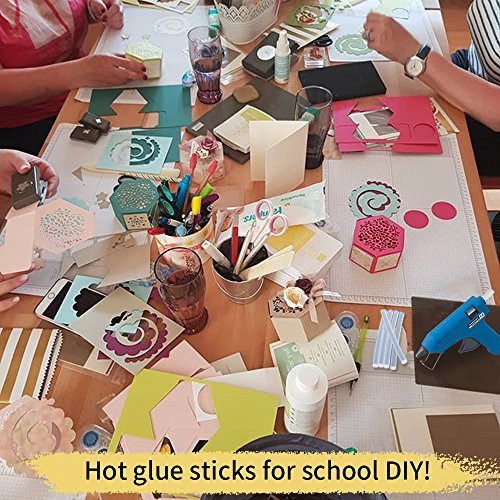 Mini Hot Glue Gun Sticks 4 In. 0.27 In. Dia 200 PACK All Purpose Hot Melt Glue Sticks for Most Hot Melt Glue Gun Clear Hot Glue Adhesive almost for All Materials for Kids Adults DIY Sealing Repairing by Tavda Tech (Image #1)