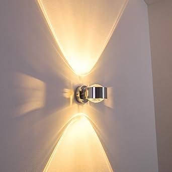 Perfekt Wandleuchte Sapri Halbrund Mit Effekt Schlitzen An Den Seiten   Verchromte  Metall Lampe Mit