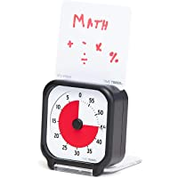 Time Timer 3 inch Visual Timer — 60 Minute Kids Desk Countdown Clock with Dry Erase Activity Card and Desktop App Access…