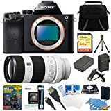 Sony A7 Full-Frame Camera Body + Full Frame SEL 70-200mm F4 G OIS Lens Accessory Bundle Includes: Sony a7 Full-Frame Interchangeable Lens Black Digital Camera, Sony 70-200mm F4 G OIS Interchangeable Lens, 64GB SDXC Class 10 UHS-1 R40 Memory Card, Camera Bag, extra Battery, Charger and more