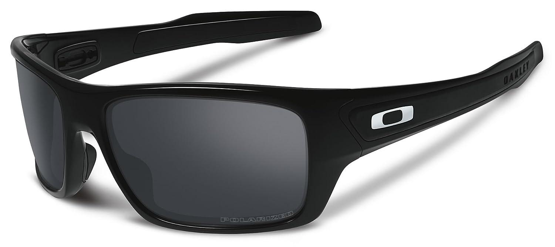 7b2441c8b38 Oakley Turbine Polished Black Sunglasses with Black Iridium Polarized Lens   Amazon.co.uk  Clothing