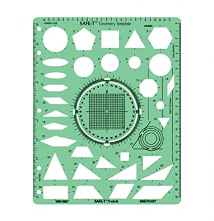 Amazon.com : Learning Resources SAFE-T Geometry Template : Childrens ...
