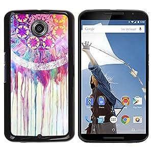 Be Good Phone Accessory // Dura Cáscara cubierta Protectora Caso Carcasa Funda de Protección para Motorola NEXUS 6 / X / Moto X Pro // Fractal Colorful Pink Happy Girl