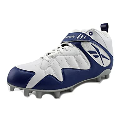 2b14e585e Reebok PRO All Out ONE MID MP Mens Football Cleats White Dark Royal 11