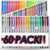 jelly pens - Bold 60 Gel Pens Set Colored Gel Pen plus for Adults Coloring Books Drawing Art Markers
