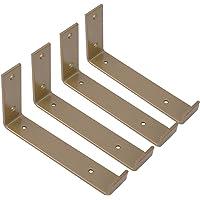 LBSY 2 Soportes para Estantes Resistentes Soporte para Estante Industriales Carga M/áxima de 100 Kg Escuadras de Pared con Soporte de Partici/ón Triangular